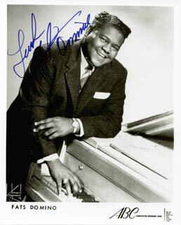 FATS DOMINO - PRINTED PHOTOGRAPH SIGNED IN INK