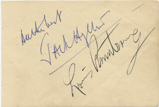 Autographs: LOUIS SATCHMO ARMSTRONG - SIGNATURE(S) CO-SIGNED BY: JACK HYLTON
