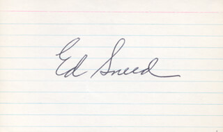ED SNEED - AUTOGRAPH