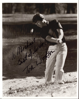 TOM WATSON - AUTOGRAPHED INSCRIBED PHOTOGRAPH