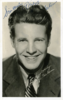 OZZIE NELSON - PICTURE POST CARD SIGNED