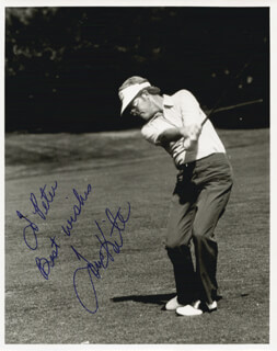 TOM KITE JR. - AUTOGRAPHED INSCRIBED PHOTOGRAPH