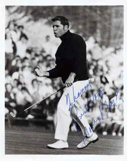 GARY PLAYER - AUTOGRAPHED INSCRIBED PHOTOGRAPH
