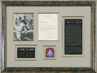 Autographs: GENERAL MARK W. CLARK - TYPED LETTER SIGNED 03/21/1945