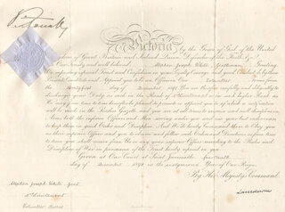 QUEEN VICTORIA (GREAT BRITAIN) - MILITARY APPOINTMENT SIGNED 12/14/1898 CO-SIGNED BY: HENRY (MARQUESS OF LANSDOWNE V) PETTY-FITZMAURICE
