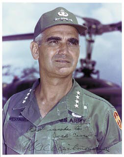 GENERAL WILLIAM C. WESTMORELAND - AUTOGRAPHED INSCRIBED PHOTOGRAPH CIRCA 1967