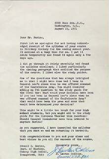 GENERAL J. LAWTON COLLINS - TYPED LETTER SIGNED 08/27/1971