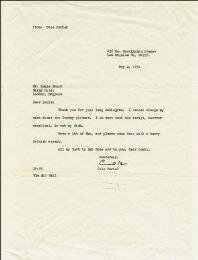 COLE PORTER - TYPED LETTER SIGNED 05/02/1951
