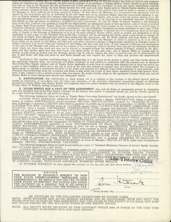SIR CEDRIC HARDWICKE - CONTRACT SIGNED 01/14/1954