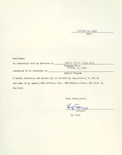 RIP TORN - DOCUMENT SIGNED 10/12/1956