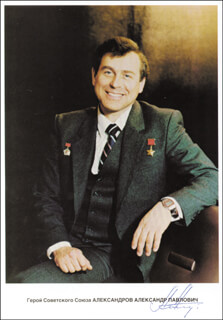 ALYEKSANDR P. ALYEKSANDROV - AUTOGRAPHED SIGNED PHOTOGRAPH