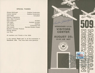 ENOLA GAY CREW (THEODORE VAN KIRK) - PROGRAM SIGNED CIRCA 1990