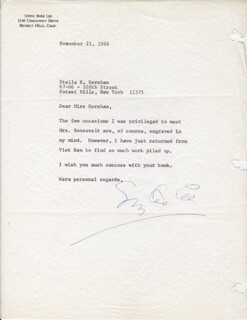 GYPSY ROSE LEE - TYPED LETTER SIGNED 11/23/1968