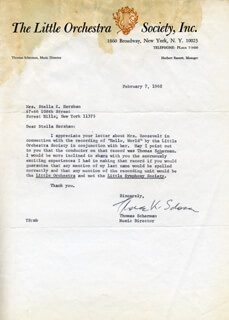 CAPTAIN THOMAS SCHERMAN - TYPED LETTER SIGNED 02/07/1968