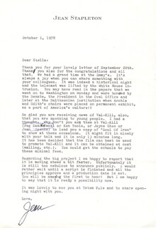 JEAN STAPLETON - TYPED LETTER SIGNED 10/01/1978