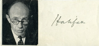 Autographs: EARL OF HALIFAX (EDWARD WOOD) - SIGNATURE(S)