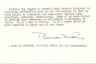 BENSON FORD - TYPED QUOTATION SIGNED