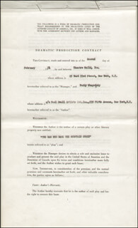 PADDY CHAYEFSKY - CONTRACT SIGNED 02/02/1951