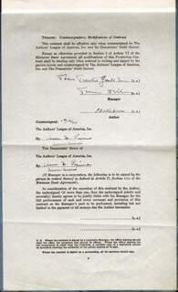 ELIA KAZAN - CONTRACT SIGNED 11/15/1944