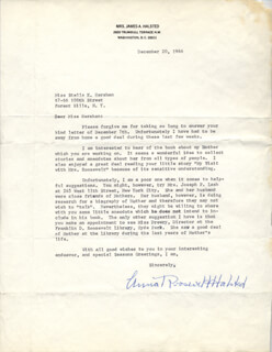 Autographs: ANNA ROOSEVELT - TYPED LETTER SIGNED 12/20/1966