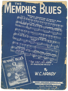 Autographs: W.C. HANDY - INSCRIBED SHEET MUSIC SIGNED 04/29/1946
