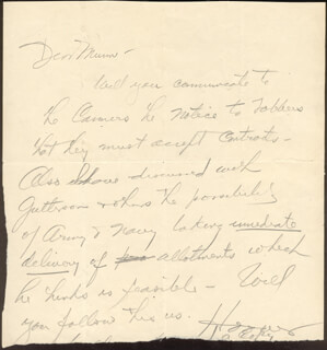 Autographs: PRESIDENT HERBERT HOOVER - AUTOGRAPH LETTER SIGNED