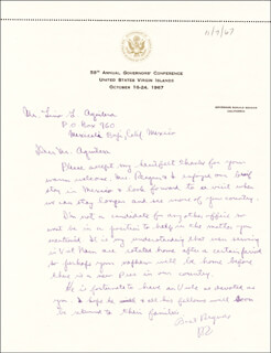 PRESIDENT RONALD REAGAN - AUTOGRAPH LETTER SIGNED CIRCA 1967
