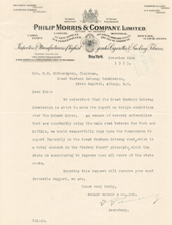 FREDERICK S. LUCEY - TYPED LETTER SIGNED 11/22/1915