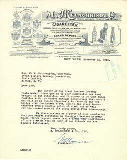 L. B. McKETTERICK - TYPED LETTER SIGNED 11/22/1915