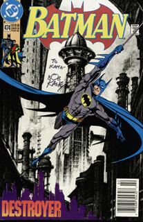 BOB KANE - INSCRIBED COMIC BOOK SIGNED