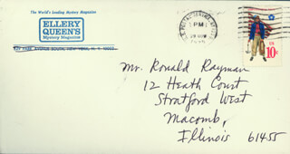 FREDERIC DANNAY - AUTOGRAPH ENVELOPE UNSIGNED CIRCA 1978