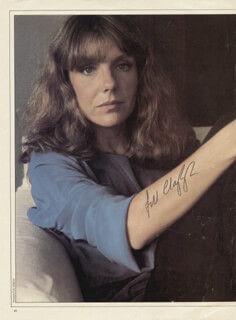 JILL CLAYBURGH - MAGAZINE PHOTOGRAPH SIGNED