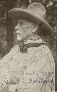 Autographs: DANIEL C. BEARD - MAGAZINE PHOTOGRAPH SIGNED