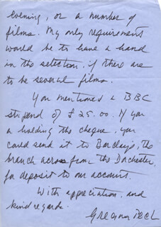 GREGORY PECK - AUTOGRAPH LETTER SIGNED 08/04/1972