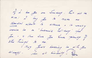 PETER CUSHING - AUTOGRAPH LETTER SIGNED 03/24/1973