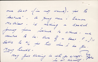 PETER CUSHING - AUTOGRAPH LETTER SIGNED 03/05/1973