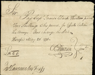Autographs: CHIEF JUSTICE OLIVER ELLSWORTH - AUTOGRAPH DOCUMENT SIGNED 05/28/1778 CO-SIGNED BY: EBENEZER GAY