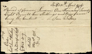 Chief Justice Oliver Ellsworth Memorabilia 168350