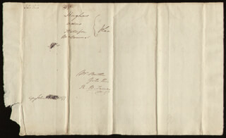 CHIEF JUSTICE ROGER B. TANEY - AUTOGRAPH DOCUMENT SIGNED THREE TIMES