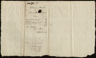 Autographs: CHIEF JUSTICE ROGER B. TANEY - DOCUMENT SIGNED 03/23/1812
