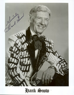 HANK SINGING RANGER SNOW - AUTOGRAPHED SIGNED PHOTOGRAPH