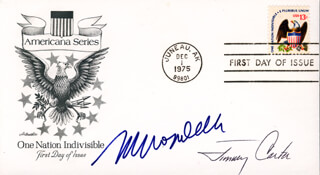 Autographs: PRESIDENT JAMES E. JIMMY CARTER - FIRST DAY COVER SIGNED CO-SIGNED BY: VICE PRESIDENT WALTER F. MONDALE