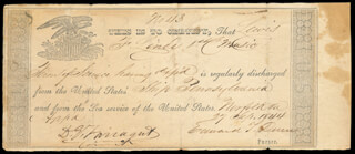 Autographs: ADMIRAL DAVID G. FARRAGUT - DOCUMENT SIGNED 09/27/1844