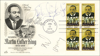 RALPH WALDO ELLISON - FIRST DAY COVER SIGNED CO-SIGNED BY: MICHAEL SPINKS, DICK GREGORY