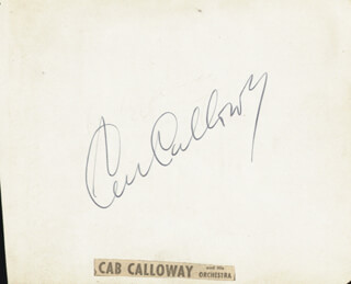 CAB CALLOWAY - AUTOGRAPH CO-SIGNED BY: CLAUDIO ARRAU