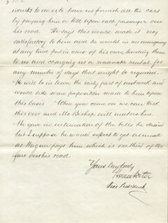 BRIGADIER GENERAL HORACE PORTER - MANUSCRIPT LETTER SIGNED 07/12/1876