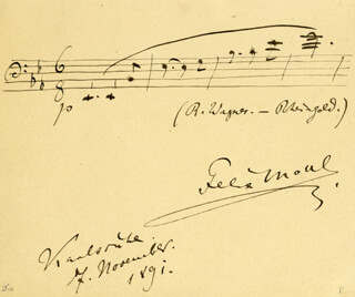 FELIX MOTTL - AUTOGRAPH MUSICAL QUOTATION SIGNED 11/07/1891