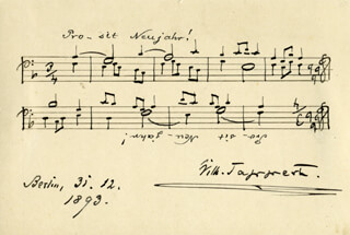 WILHELM TAPPERT - AUTOGRAPH MUSICAL QUOTATION SIGNED 12/31/1893