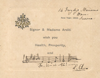 LUIGI ARDITI - AUTOGRAPH MUSICAL QUOTATION SIGNED