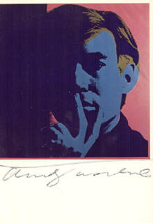 ANDY WARHOL - POST CARD SIGNED